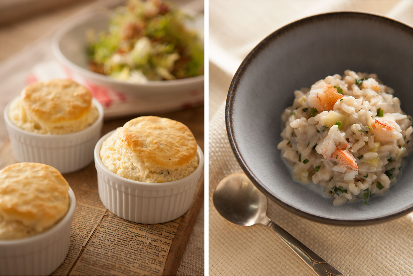 Crab_Soufflé_Crab_Risotto