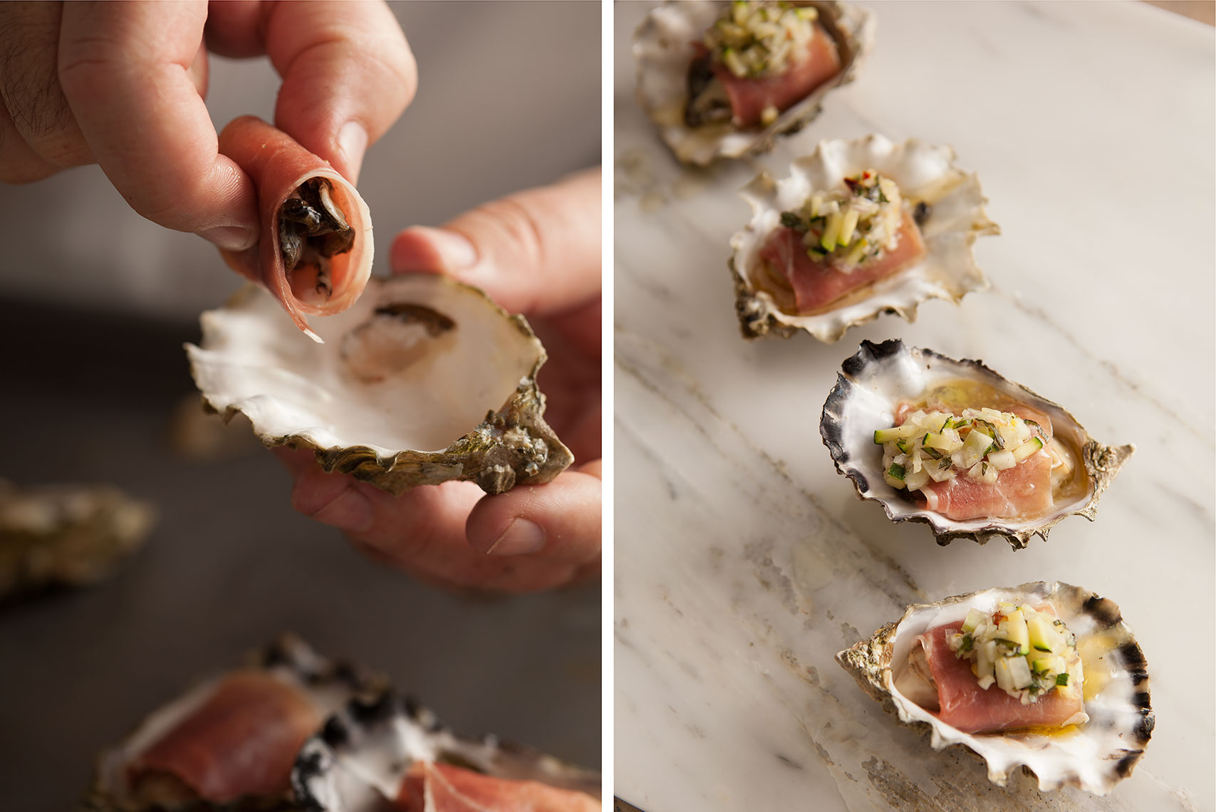 Prosciutto Wrapped Oysters
